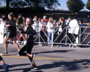 My first half marathon in November 2011