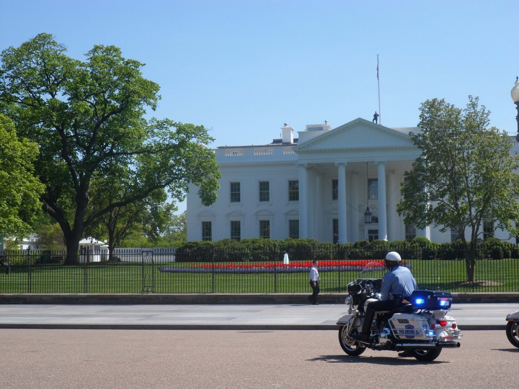 Motorcade + snipers on the roof. Check.