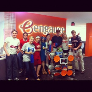 All work and lots of fun. Entern class of 2012 hosting the weekly beer cart.