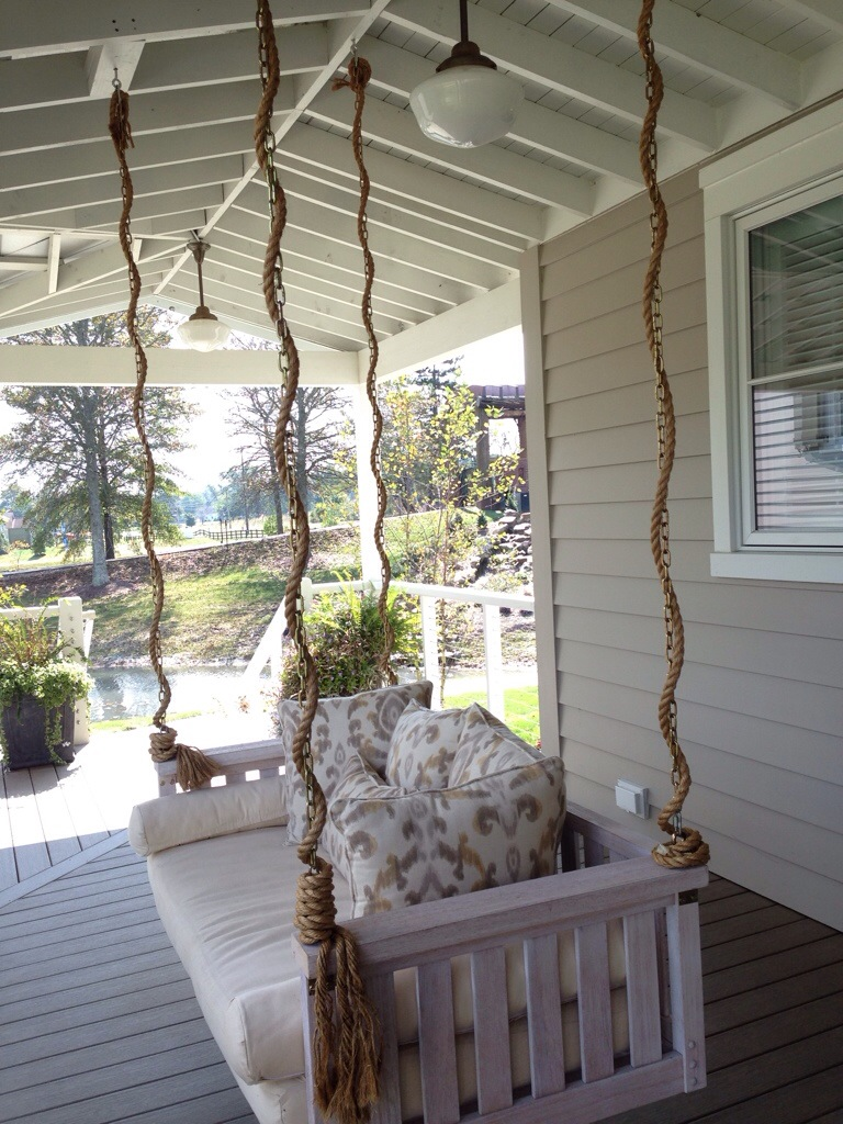 bay pleasant back swings with white interesting front curved porch coast coral regarding optional elegant well swing as