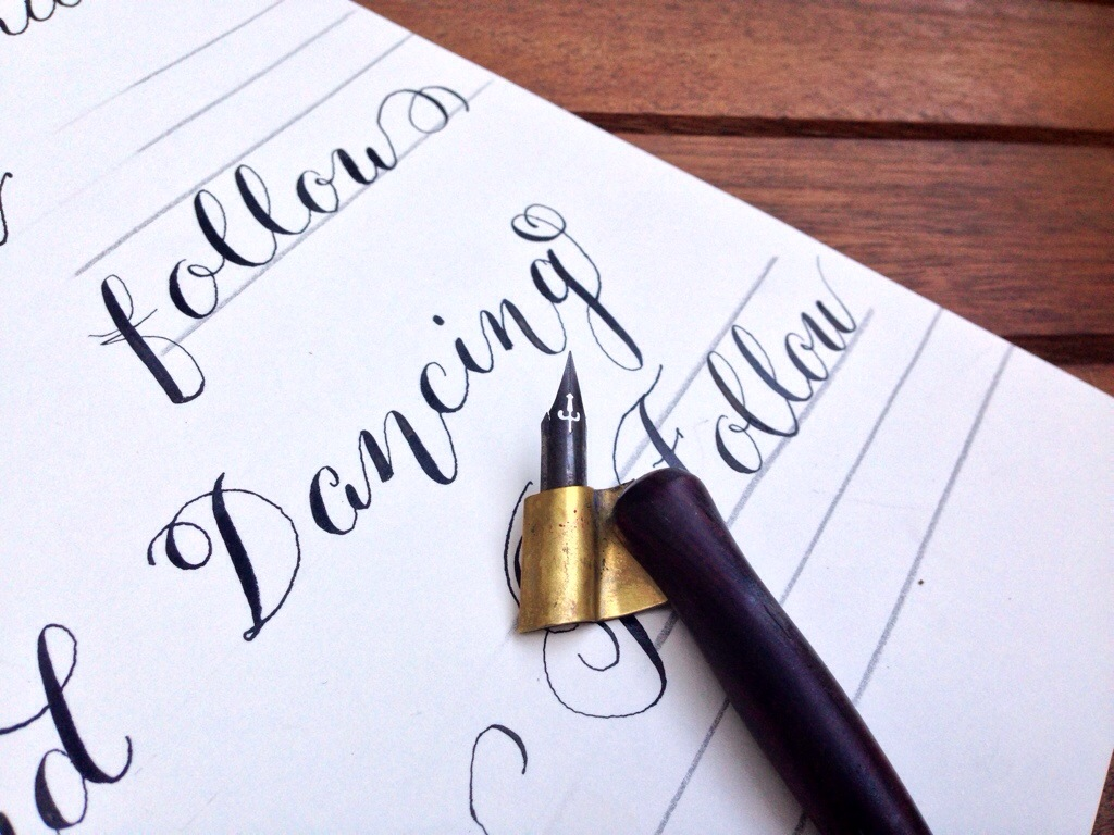 Learning Calligraphy Kaitlyn White