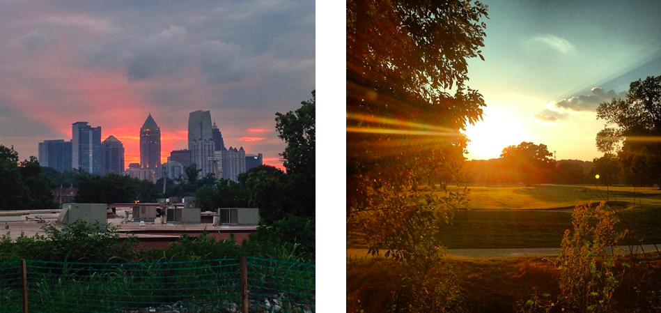 Sunset from the Eastside trail // A look from the golf course along the Northside trail